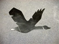 Goose cutout - used for concrete form, to make an inset image in a sidewalk