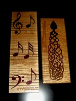 Solid inlays - music motif and celtic spoon