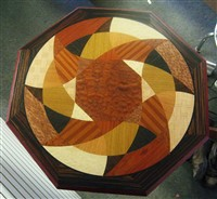 Inlaid veneer table