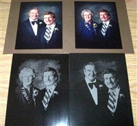 Family portraits (original photos and etching results)