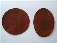 Leather cutouts - good for luggage tags to distinguish and personalize your bags with a favorite image